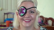 The woman making eyepatches beautiful