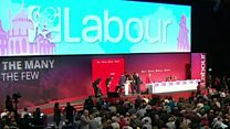 Labour delegate collapses on stage