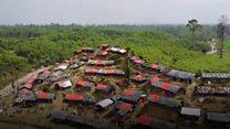 صور من الجو لمخيات الروهينغا في بنغلادش