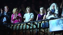The mothers of Take That band members attend musical The Band