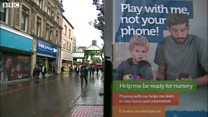Posters urge parents to put down phones