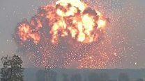 Arms dump explodes in Ukraine