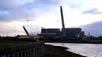 Chimneys at Tilbury Power Station demolished