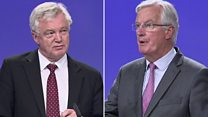 Davis and Barnier on state of Brexit talks