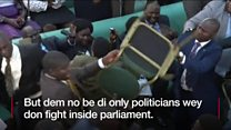 Which country lawmakers fight pass?