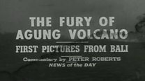 Rekaman langka letusan Gunung Agung 1963