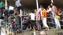 Chaos after Mumbai railway stampede