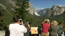 Rockfalls at Yosemite national park
