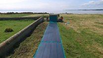 Island trials portable solar panels