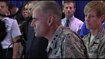Stirring speech to US cadets over racist slurs