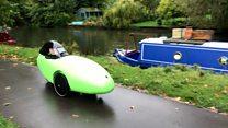 Canoe-shaped bike 'could solve congestion'