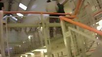 Prison footage shows rioting inmates