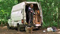 Living in a broken down van in a forest
