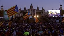 Huge referendum rally in Barcelona