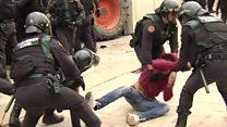 Cientos de heridos en violencia desatada durante referéndum en Cataluña