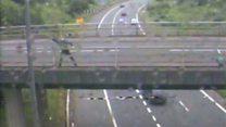 Pair jailed after admitting throwing items from motorway bridge