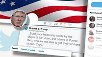 کشمکش توییتری ترامپ با مقامات پورتوریکو