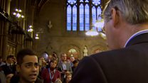Rees-Mogg takes on protesters at Tory event
