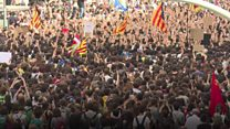 Thousands protest Spanish police violence