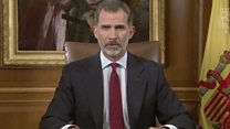 Spanish King: Catalan society is fractured