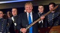 What's Trump said about guns?