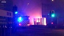 Garage fire 'started deliberately'