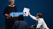 May handed P45 during speech