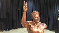مجسمه غلامرضا تختی در موزه آکادمی ورزش آمریکا نصب شد