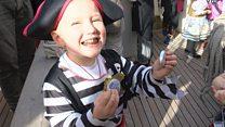 A pirate wish comes true for Sebbie