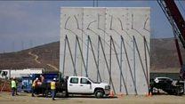 Trump's prototype Mexico walls appear