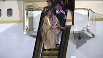 سلم الملك سلمان الذهبي يتعطل في روسيا