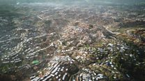 Drone shows huge Rohingya camps