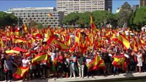 Thousands attend Spanish unity rallies