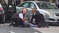 Man pinned to floor outside museum