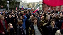 Moscow protesters march towards Kremlin