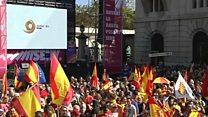 حفظ یکپارچگی اسپانیا؛ خواسته هزاران تظاهرکننده در مرکز کاتالونیا