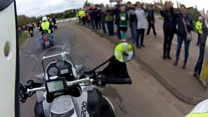 Biker's view of Ride to the Wall
