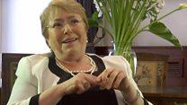 """Yo soy presidenta casi a pesar de ser mujer"", Michelle Bachelet, presidenta de Chile, en entrevista con la BBC"
