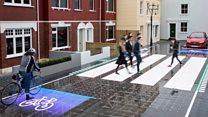 Pedestrian crossing reacts to danger