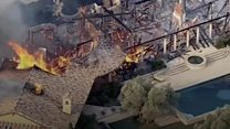 California wildfires destroying homes