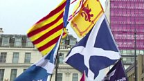 SNP supporters on Catalonia