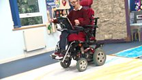 Artists create prints with wheelchair wheels