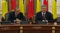 Эрдоган заснул на пресс-конференции в Киеве