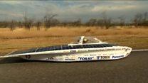 Who won the solar car race?