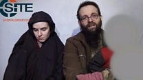 File video of US-Canadian hostages