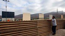 Trump wall designs at Mexico border