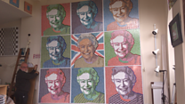 The Queen's first-class stamp artist