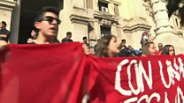 Italy students angry over work placements