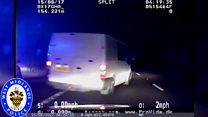 100mph driver tries to escape police