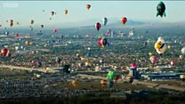 Korean - Colourful hot air balloons take to the skies in New Mexico